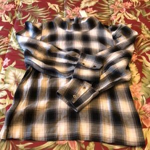 GAP Tops - Gap Plaid Mockneck top
